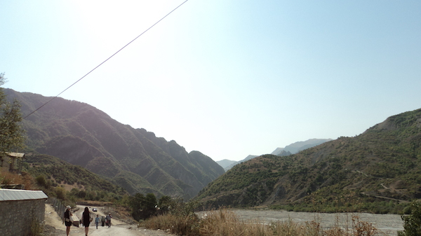 A view of the entrance to Lahij