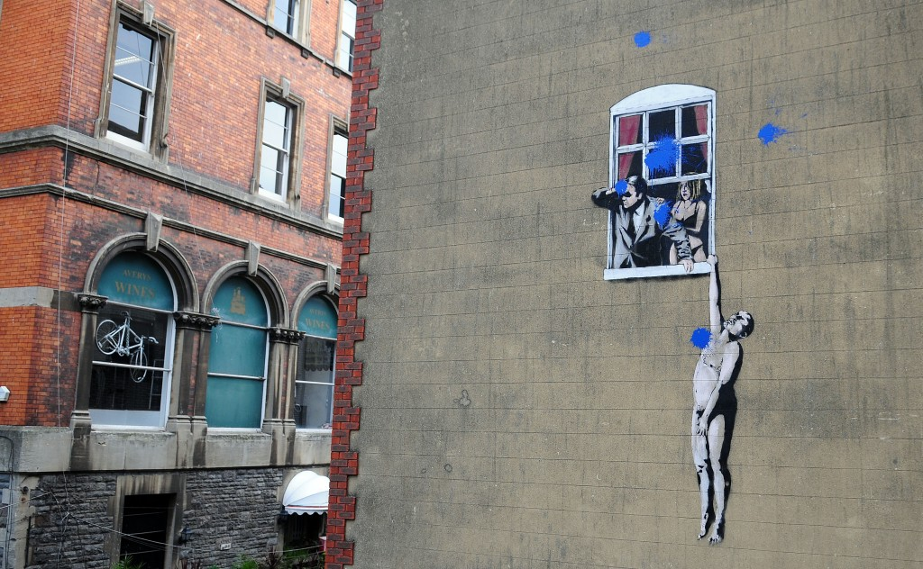 Ok, we had to show one Banksy! Naked Man is found on Bristol's Park Street.