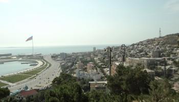 Aerial view of Baku, the capital of Azerbaijan