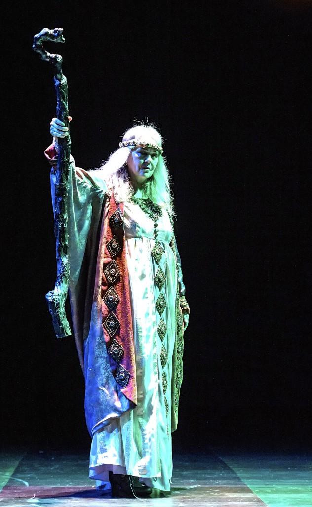 Deborah Strang as Prospero in The Tempest. Photo by Craig Schwartz.
