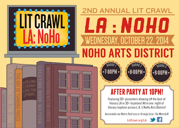 Flyer for Lit Crawl L.A.: NoHo