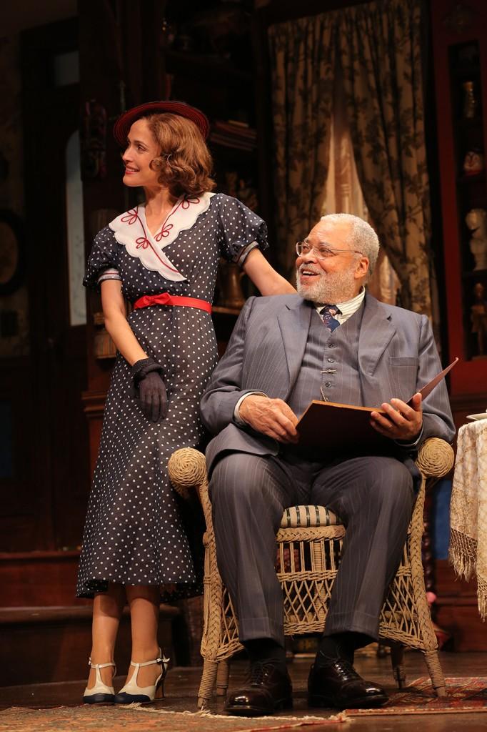 Rose Byrne and James Earl Jones. Photo: Joan Marcus