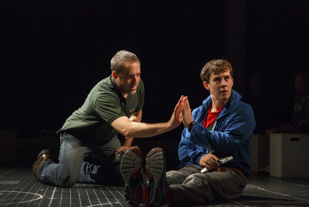 Ian Barford and Alex Sharp in The Curious Incident of the Dog in the Night-Time. Photo credit: Joan Marcus