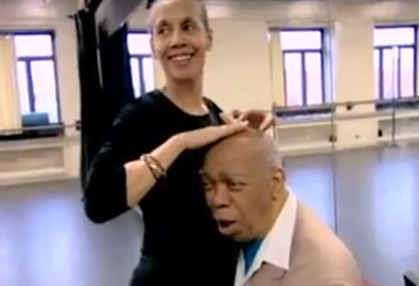 Carmen de Lavallade and Geoffrey Holder share a moment