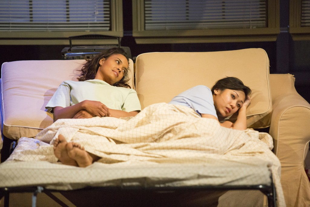l-r: Sharon Leal and Angela Lin in Stop Kiss at the Pasadena Playhouse
