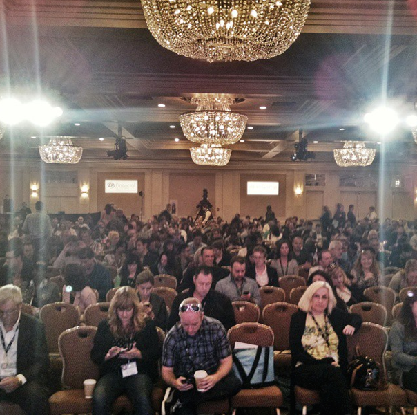 What happens next? Expectant audience at the Producers Conference, a feature of AFM. I spoke at a panel on DIY distribtuion.