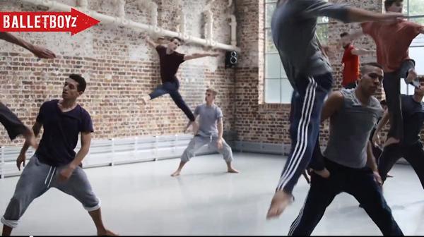 Ballet Boyz in rehearsal