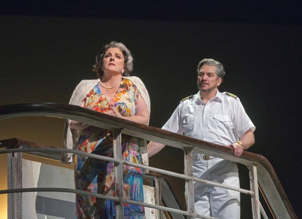 Michaela Martens and Paulo Szot in The Death of Klinghoffer. Credit: Ken Howard/Metropolitan Opera