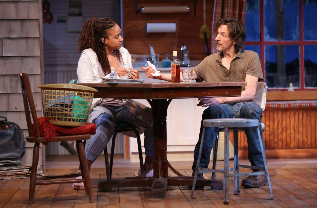 Tracie Thoms and John Hawkes in Lost Lake. Photo: Joan Marcus