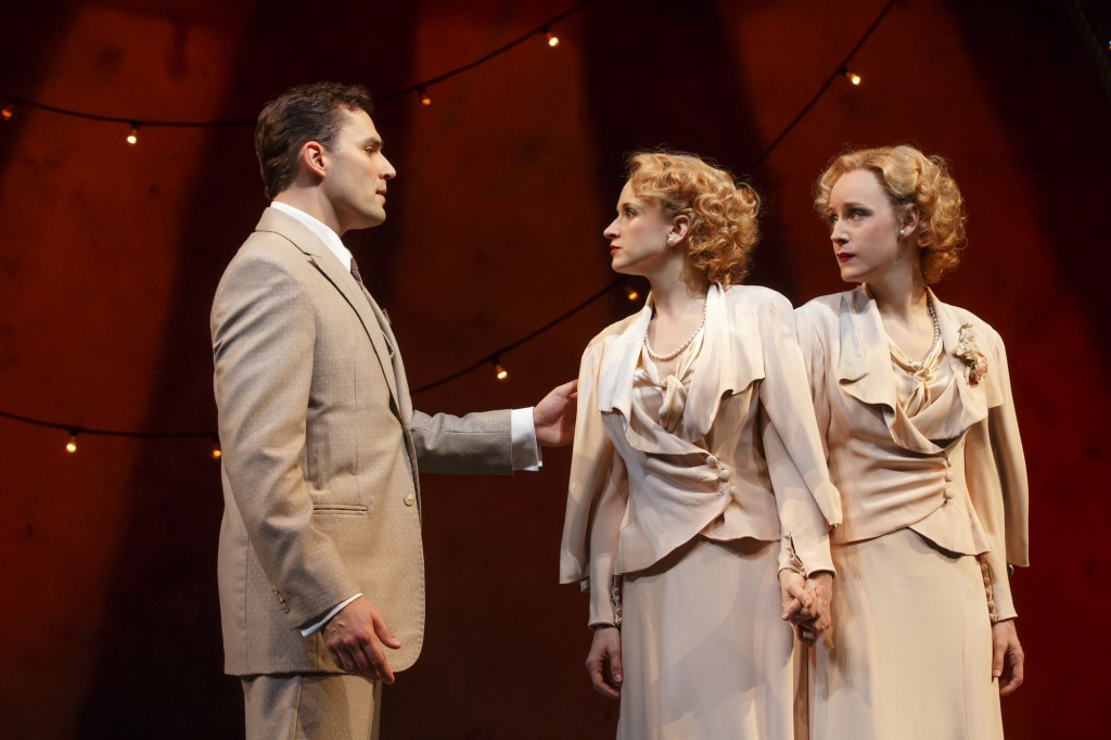 Ryan SIlverman, Emily Padgett, and Erin Davie in Side Show. Photo Credit: Joan Marcus
