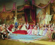 The Inauguration of the Academy of Arts, a painting by Valery Jacobi