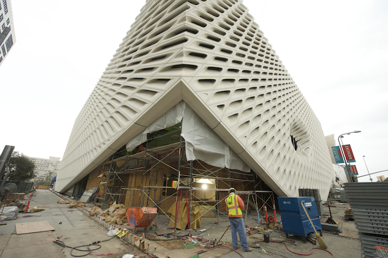 The Broad, under construction. Photo by Gary Leonard. Used with permission.
