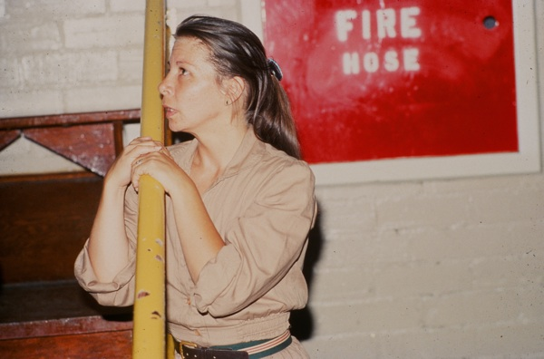 "The inmate named ""Janice"" reflects in rehearsal."