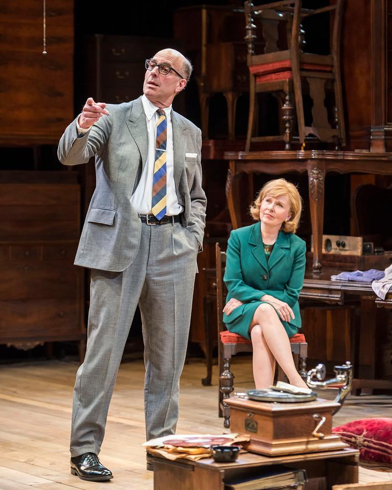 John Bedford Lloyd and Kate Burton in THE PRICE.