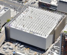The Broad Museum, viewed from the air