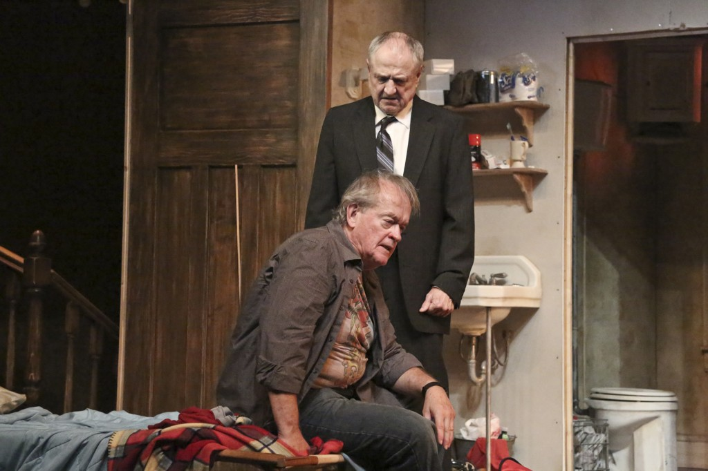 Paul Vincent O'Connor, (seated) and Denis Arndt in THE NIGHT ALIVE at The Geffen Playhouse.