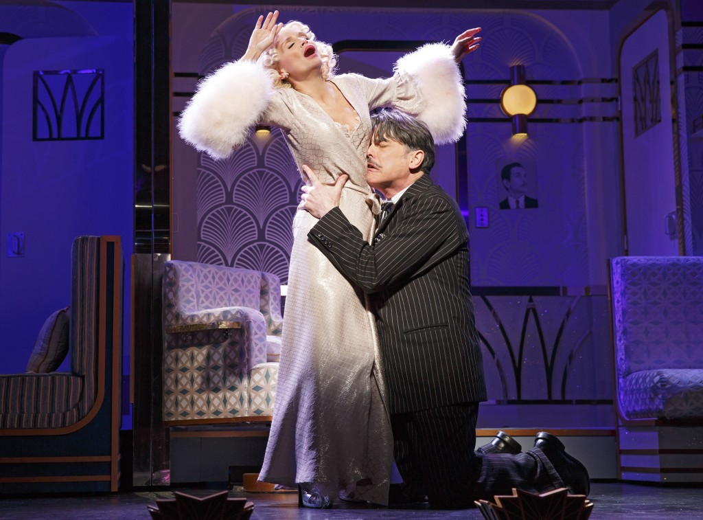 Kristin Chenoweth and Peter Gallagher in On the Twentieth Century Credit: Joan Marcus