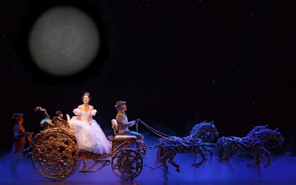 Paige Faure as Cinderella on her way to the ball...
