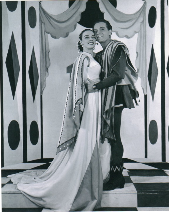 Patricia Morison with Alfred Drake in Kiss Me Kate