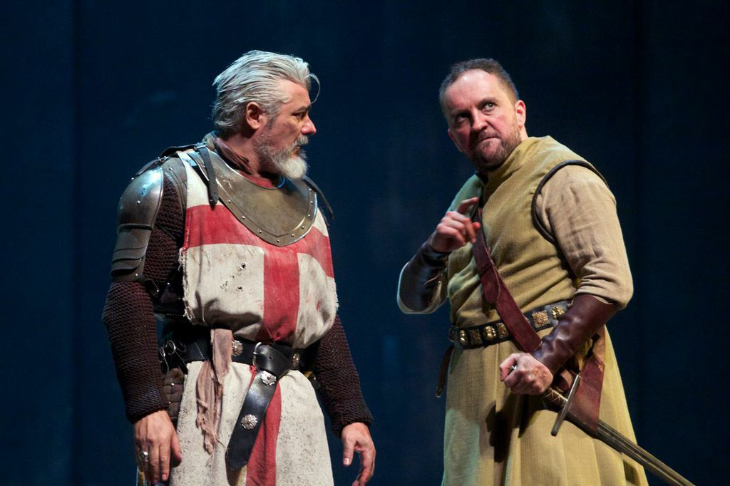 Darrell D'Silva as Siward (left) and Keith Fleming as Macduff in Dunsinane at the Wallis.