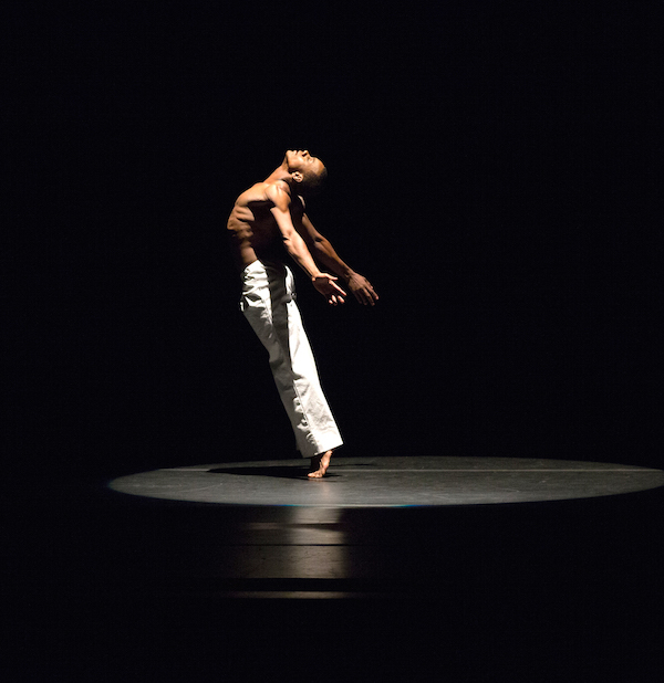 Alvin Ailey American Dance Theater's Kirven Douthit-Boyd in David Parson's Caught.  Photo by Rosalie O'Connor