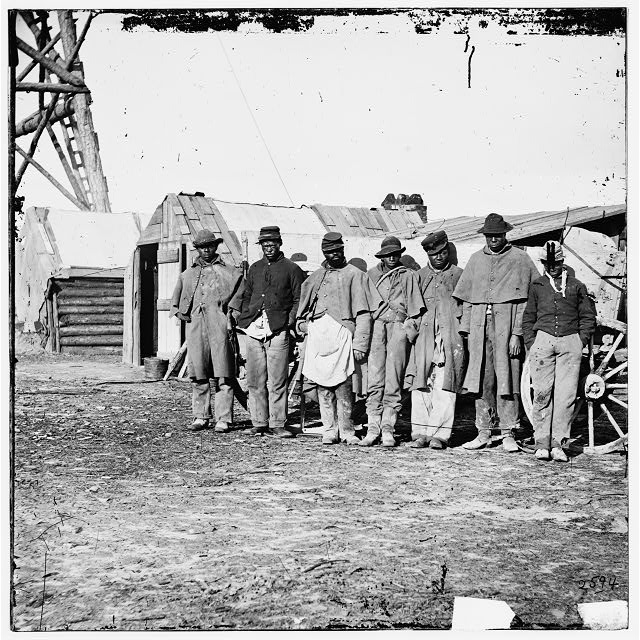 Black teamsters during Civil War.