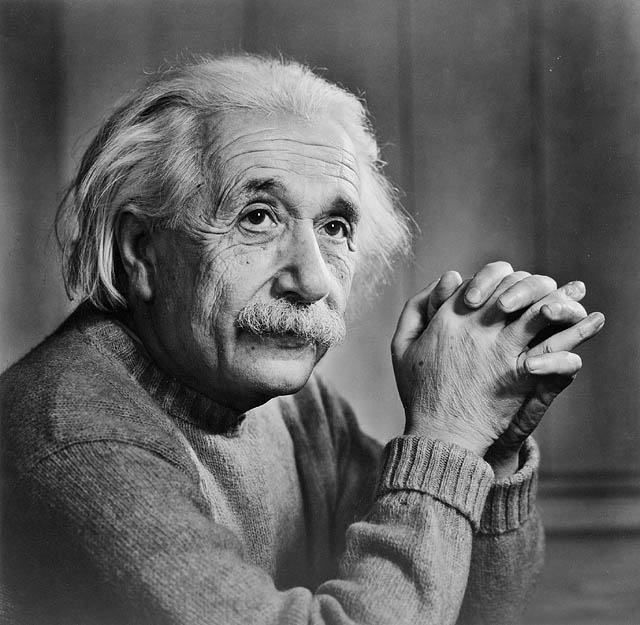 Albert Einstein in 1948.