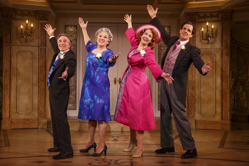 Chip Zien, Tyne Daly, Harriet Harris, and Michael X. Martin in It Shoulda Been You Credit: Joan Marcus