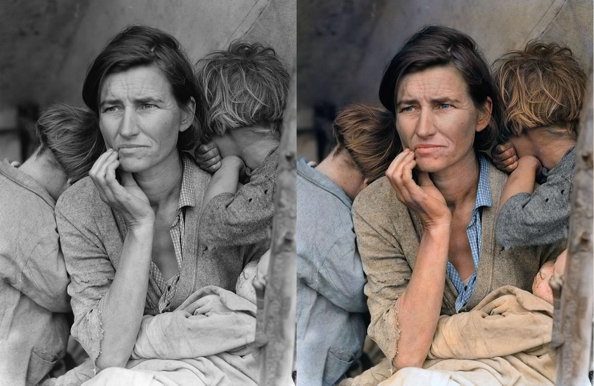 migrant mother photo analysis