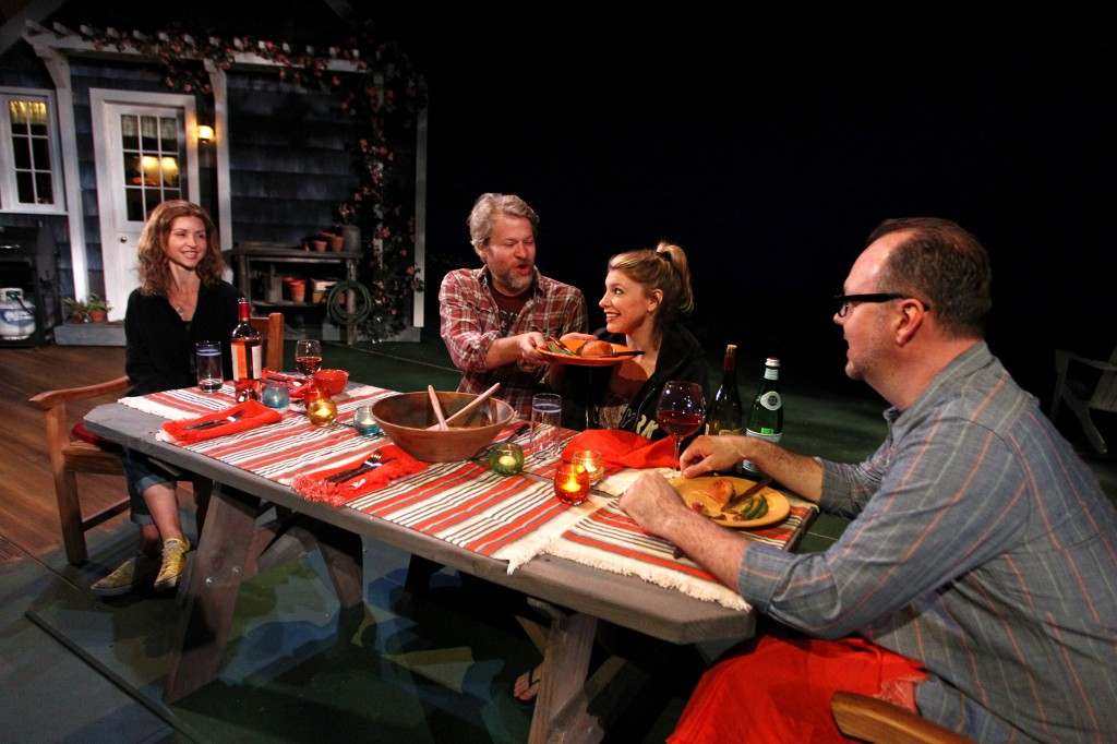 l-r, Melanie Lora, Todd Lowe, Andrea Syglowski and Rob Nagle in Of Good Stock.