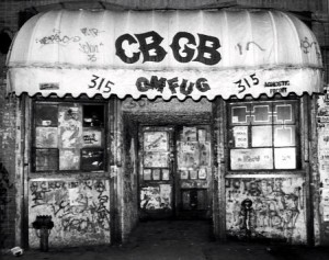 CBGB,'s, NYC music club/temple to early punk rock