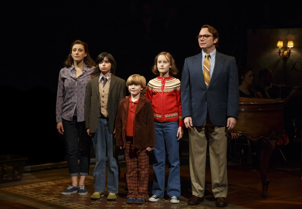 Judy Kuhn, Oscar Williams, Zell Steele Morrow, Sydney Lucas, and Michael Cerveris in Fun Home Credit: Joan Marcus