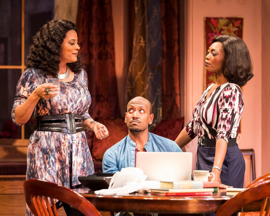 "l-r, Cynda Williams, Bryan Terrell Clark and Shanésia Davis in ""Immediate Family."