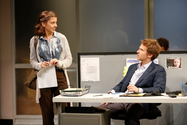 Jeanine Serralles and Ryan Spahn in Gloria Credit: Carol Rosegg