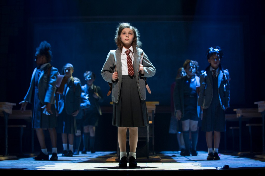Mia Sinclair Jenness and the Company of Matilda The Musical  st The Ahmanson Theatre.