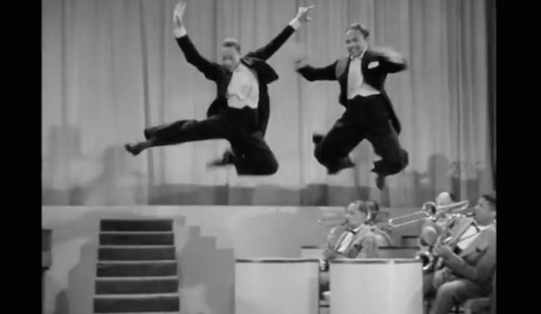 "The Nicholas Brothers fly in ""Stormy Weather"""
