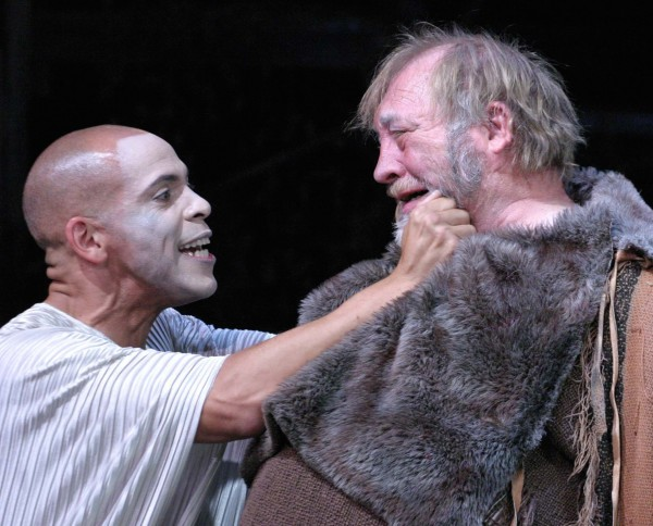 l-r, Joshua Wolf Coleman and Brent Christiansen in Oedipus Machina at TheOdyssey.