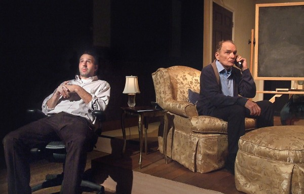 l-r, Thaddeus Shafer & Tom Bower in Off the King's Road at The Odyssey Theatre