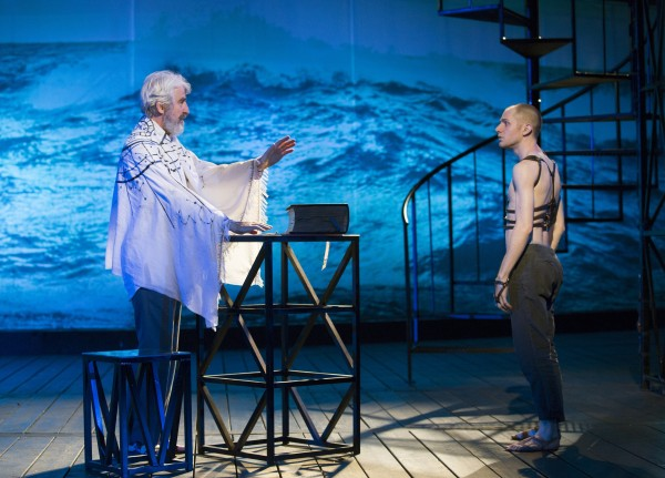 Sam Waterston and Chris Perfetti in The Tempest Credit: Joan Marcus