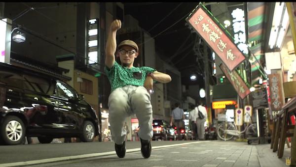 A dancer interrupts trafic in YLYK Super Slow Motion