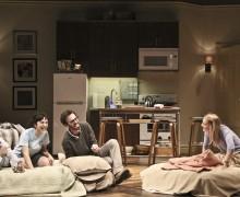 l-r, Raviv Ullman, Molly Ephraim, Ari Brand & Lili Hunter in Bad Jews at The Geffen Playhouse.