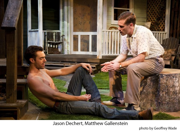 ... in a serious conversation in Picnic at Antaeus