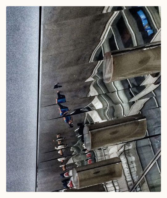 Overhead Mirrors Mimic People Below