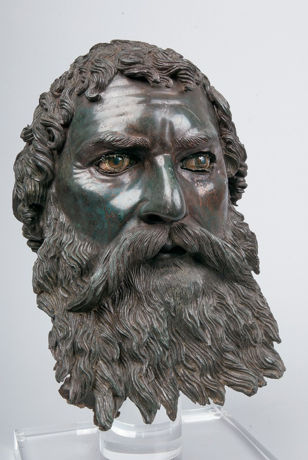 Portrait of Seuthes III, about 310-300 B.C., Greek, Bronze, copper, calcite, alabaster, and glass paste. National Institute of Archaeolology with Museum, Bulgaria