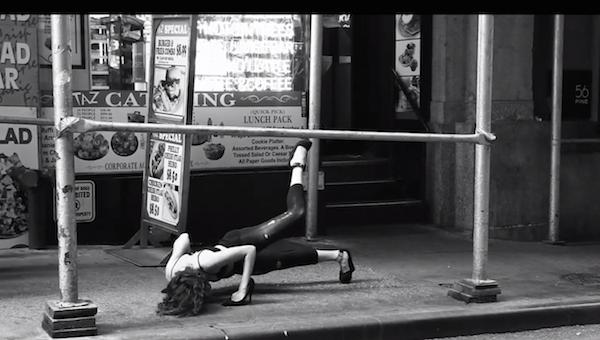 """A dancer in """"Casi"""" takes a street in Manhattan"""