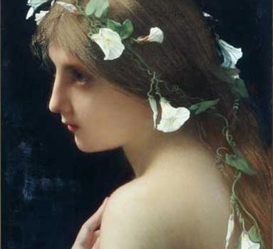 Jules Joseph Lefebvre Nymph with morning glory flowers