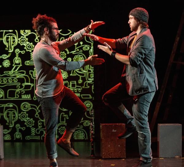 l-r, Leeav S0fer & Anfy Huber in Man covets Bird.