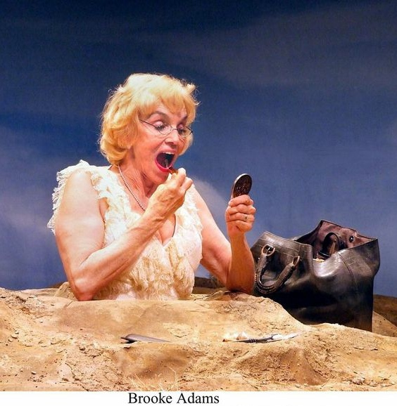 Brooke Adams in Happy Days at the Theatre @BostonCourt in Pasadena. Photo by Ed Krieger.