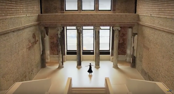 A dancer spins in the Neues Museum
