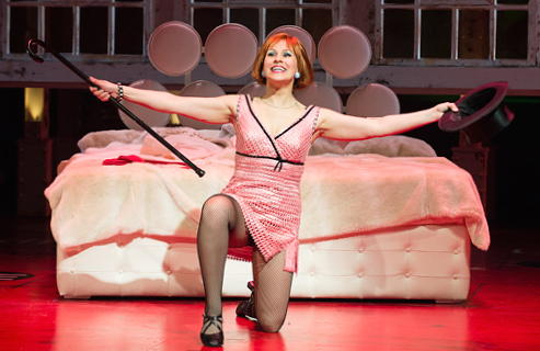 Julie Martell in Sweet Charity at the Shaw Festival. Credit: David Cooper